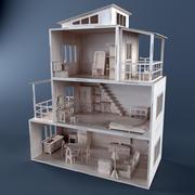 Maison de poupée en contreplaqué 3d model