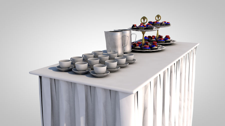 buffet royalty-free 3d model - Preview no. 4