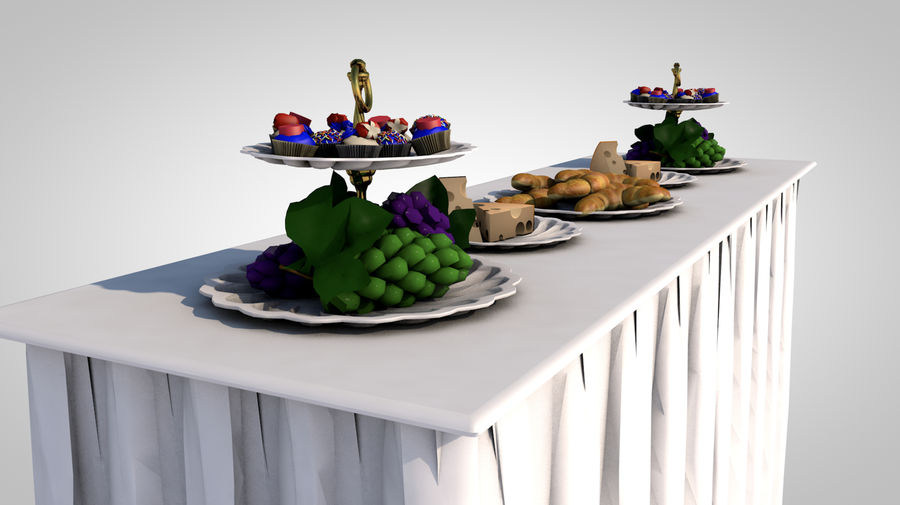 buffet royalty-free 3d model - Preview no. 5