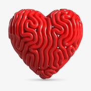 Lignes en forme de coeur 3d model