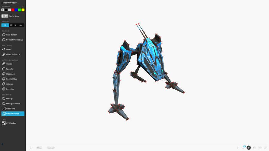 Mech Walker animato royalty-free 3d model - Preview no. 14