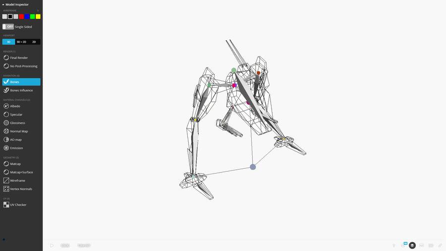 Mech Walker animato royalty-free 3d model - Preview no. 3