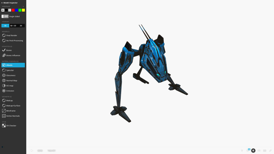 Mech Walker animato royalty-free 3d model - Preview no. 5
