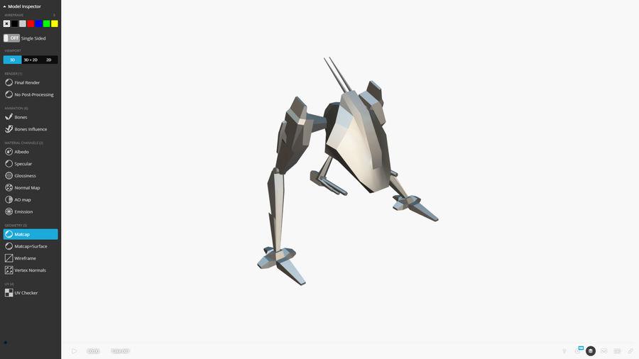 Mech Walker animato royalty-free 3d model - Preview no. 11