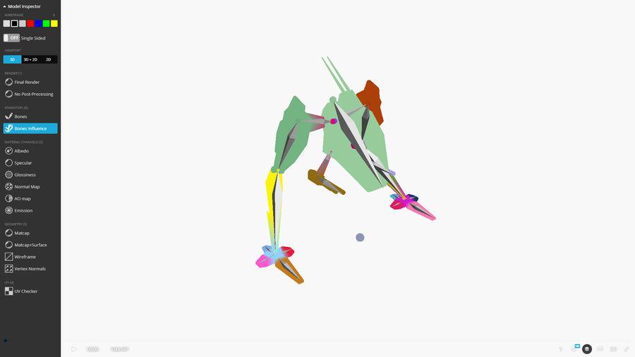 Mech Walker animato royalty-free 3d model - Preview no. 4