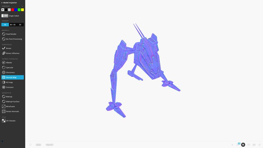 Mech Walker animato royalty-free 3d model - Preview no. 8