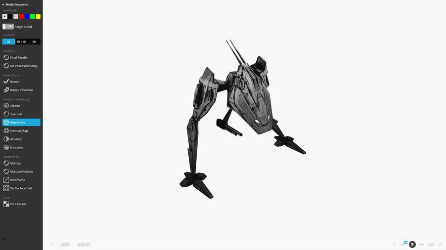 Mech Walker animato royalty-free 3d model - Preview no. 7