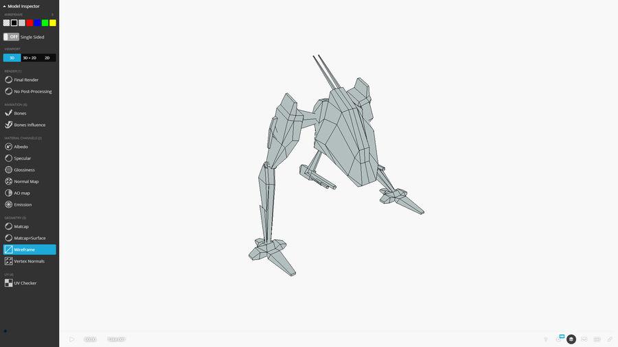 Mech Walker animato royalty-free 3d model - Preview no. 13