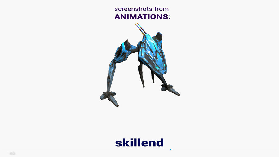 Mech Walker animato royalty-free 3d model - Preview no. 21