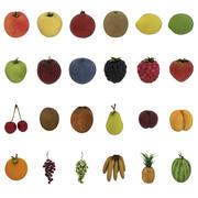 Fruits Pack - 24 fruits 3d model