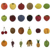Fruits Pack - 24 frutti 3d model