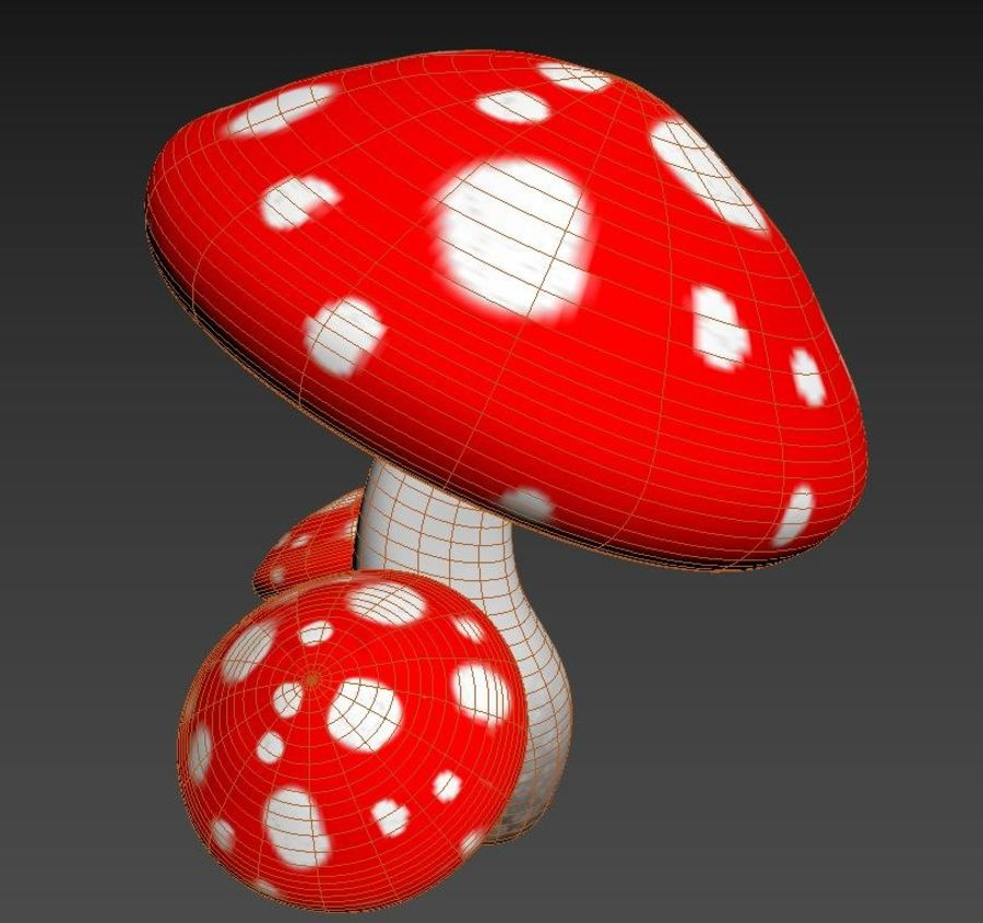 Pilz royalty-free 3d model - Preview no. 5