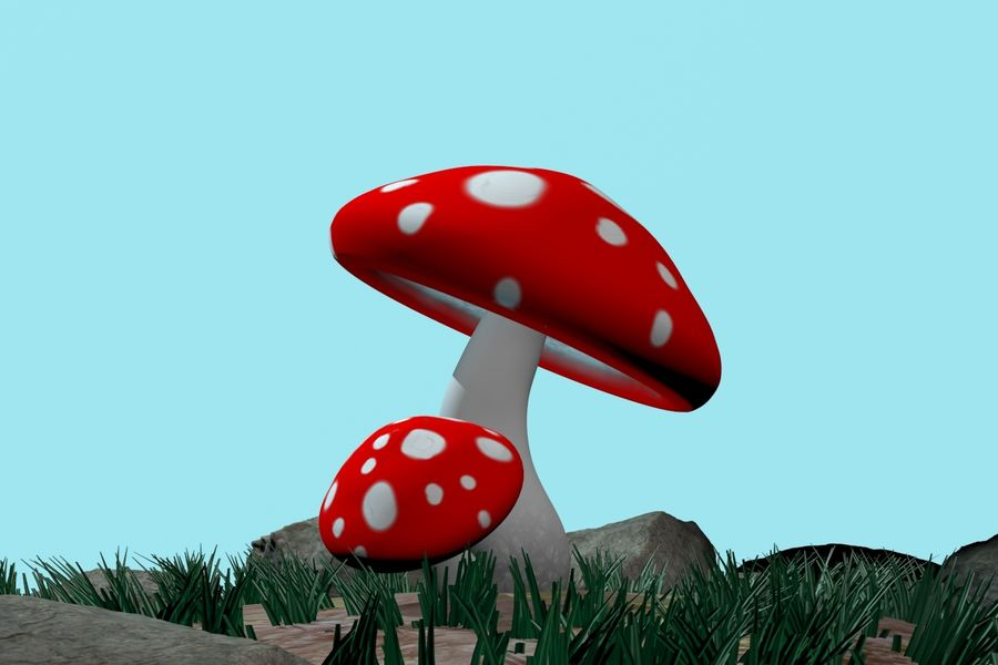 Pilz royalty-free 3d model - Preview no. 6