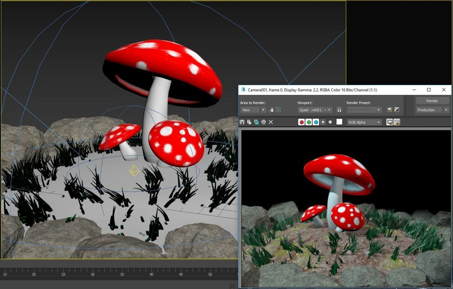 Pilz royalty-free 3d model - Preview no. 4