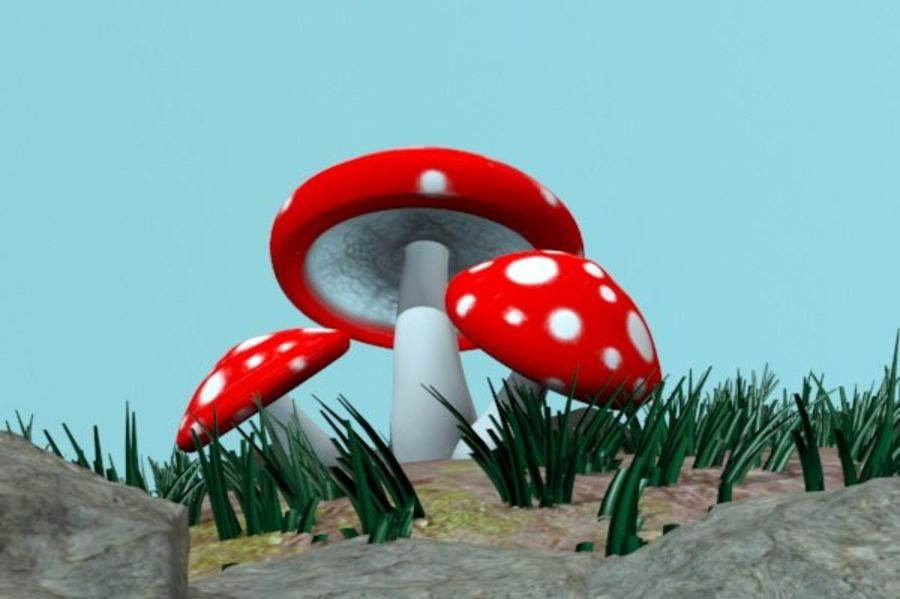 Pilz royalty-free 3d model - Preview no. 3