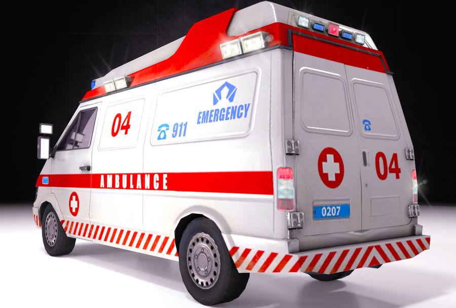Ambulance d'urgence 911 avec intérieur royalty-free 3d model - Preview no. 2