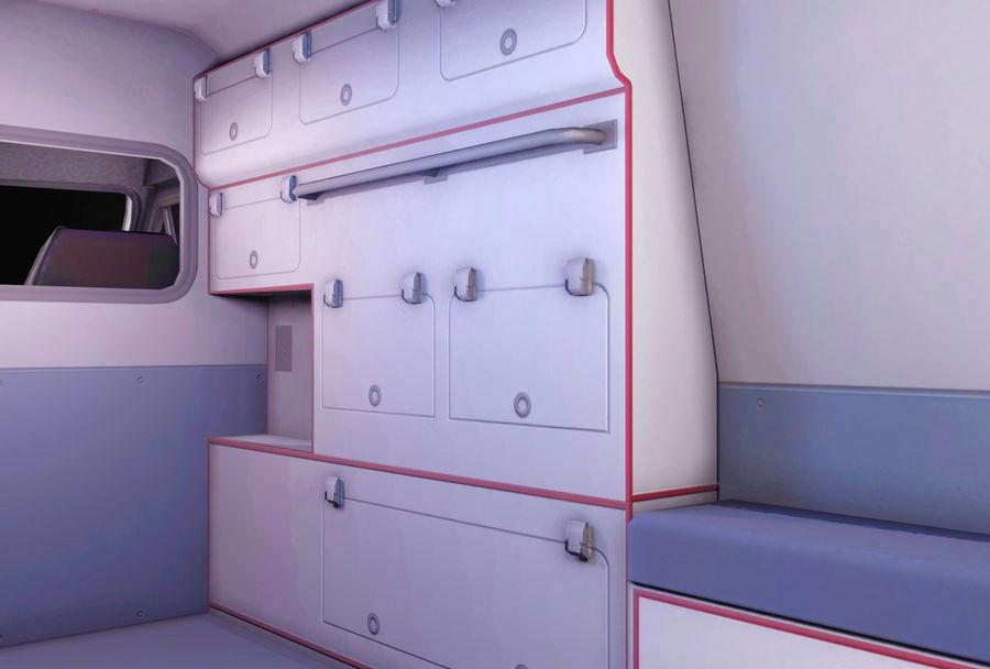 Ambulance d'urgence 911 avec intérieur royalty-free 3d model - Preview no. 4