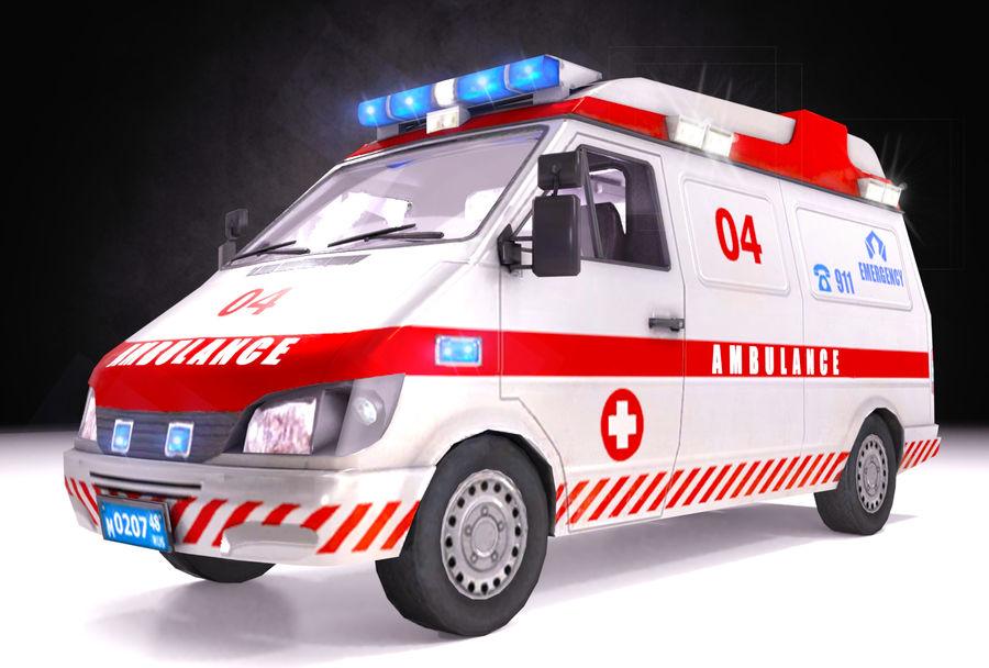 Ambulance d'urgence 911 avec intérieur royalty-free 3d model - Preview no. 6