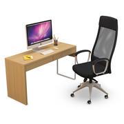 Krzesło biurowe MARKUS i biurko MICKE 3d model