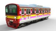 通勤電車 3d model