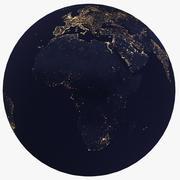 Terra à noite 3d model