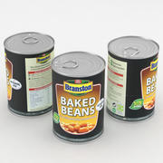 Food Can Branston Baked Beans 410g 3d model