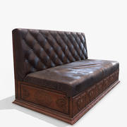 Antique Couch PBR 3d model