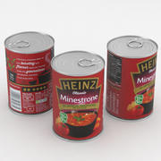 Food Can Heinz Minestrone Soup 400g 3d model