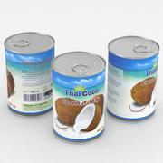 Lebensmittel können Thai Coco Kokosmilch 400ml 3d model