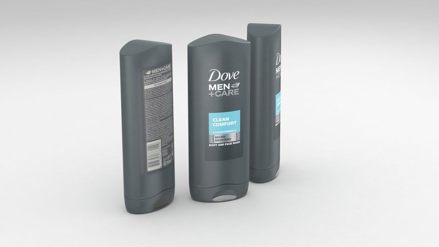 Unilever Dove Men Care Body And Face Wash Shower Gel 400ml Clean Comfort 2019 3d Model 20 Max Free3d