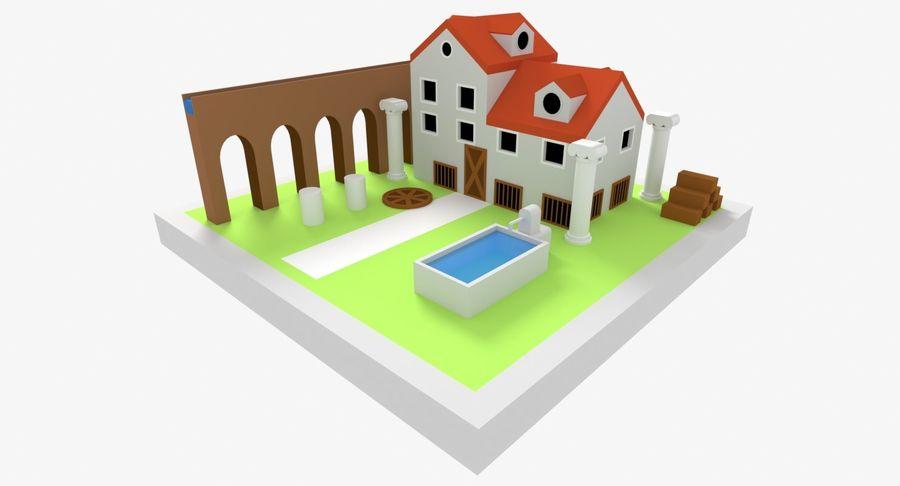 古代ローマの家 royalty-free 3d model - Preview no. 2