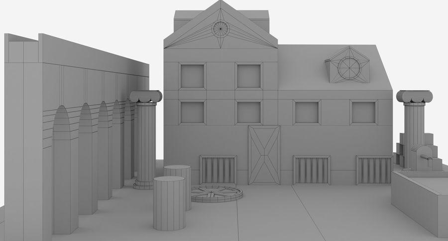 古代ローマの家 royalty-free 3d model - Preview no. 9