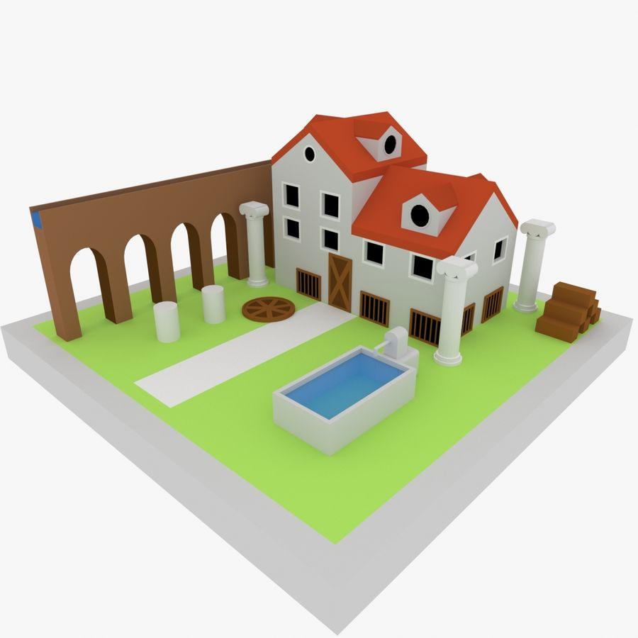 古代ローマの家 royalty-free 3d model - Preview no. 1