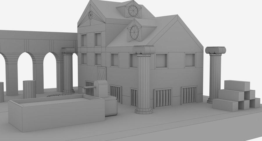 古代ローマの家 royalty-free 3d model - Preview no. 8