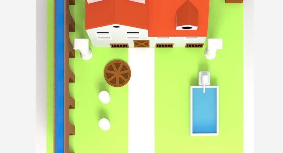 古代ローマの家 royalty-free 3d model - Preview no. 7