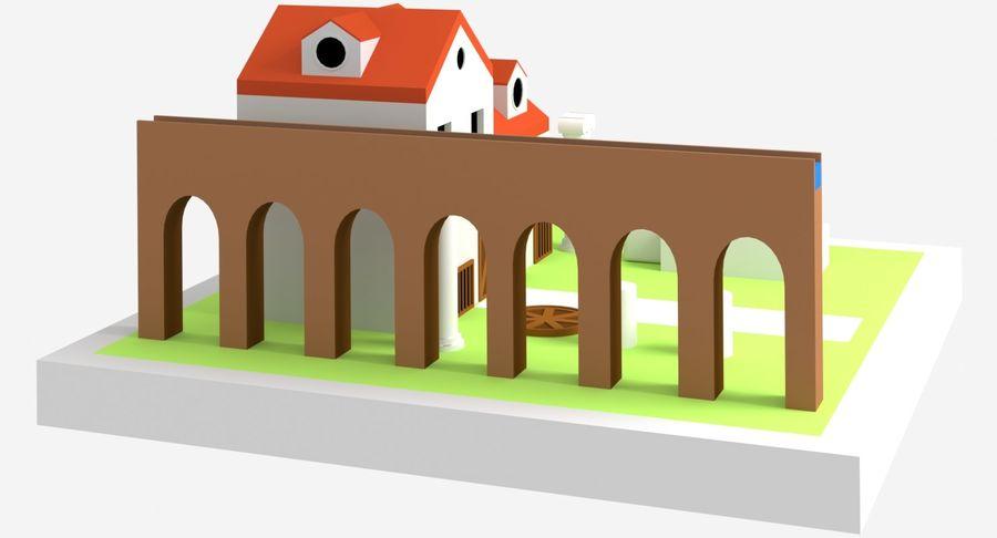 古代ローマの家 royalty-free 3d model - Preview no. 5
