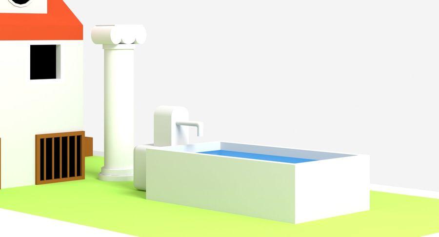 古代ローマの家 royalty-free 3d model - Preview no. 3