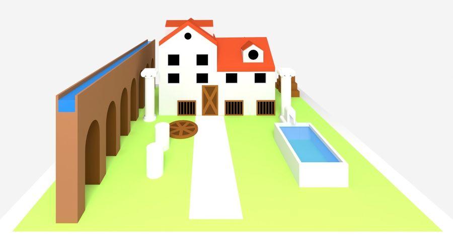 古代ローマの家 royalty-free 3d model - Preview no. 4