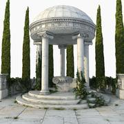 Rotunda do altar do grego clássico 3d model