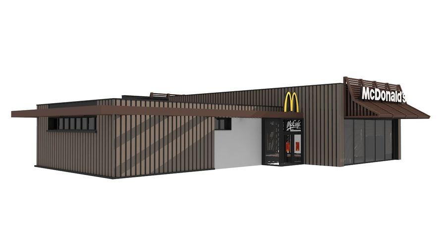McDonalds McCafe Restaurant royalty-free 3d model - Preview no. 6