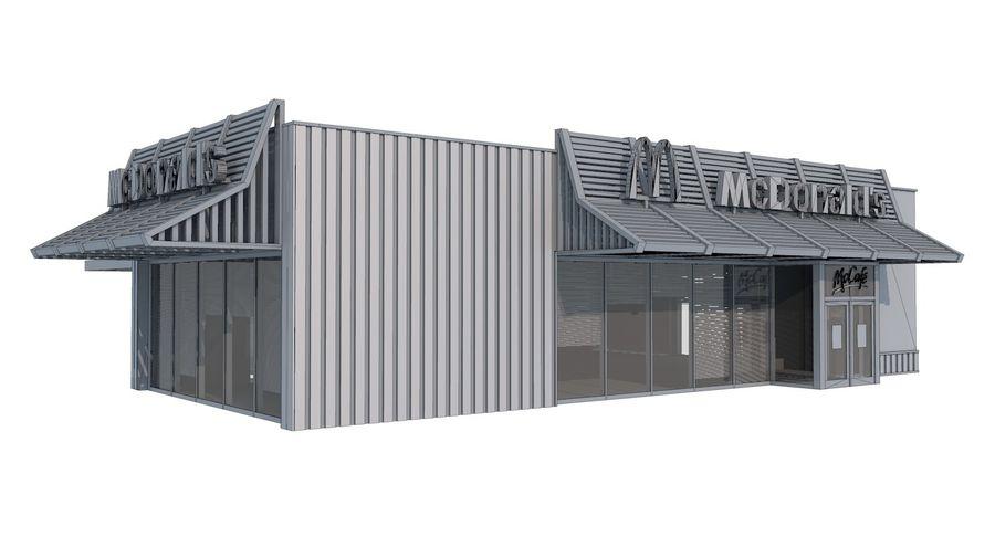 McDonalds McCafe Restaurant royalty-free 3d model - Preview no. 10
