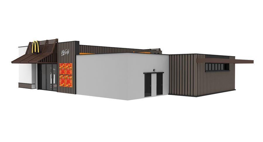 McDonalds McCafe Restaurant royalty-free 3d model - Preview no. 7