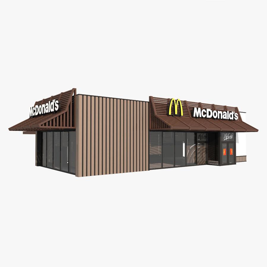 McDonalds McCafe Restaurant royalty-free 3d model - Preview no. 1