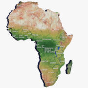 Mappa dell'Africa 3d model