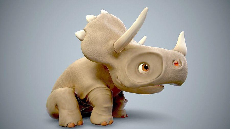 dessin animé bébé dino royalty-free 3d model - Preview no. 5