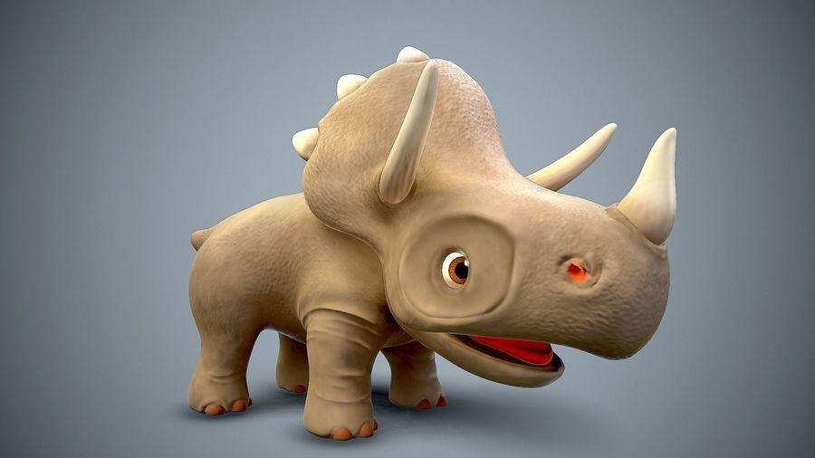 dessin animé bébé dino royalty-free 3d model - Preview no. 3