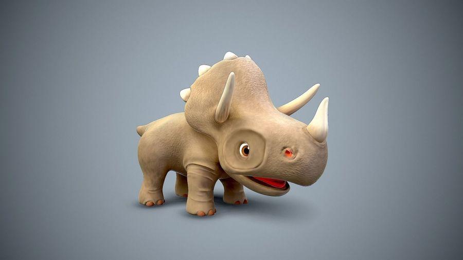 dessin animé bébé dino royalty-free 3d model - Preview no. 6