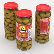 Еда Jar Figaro Испанские оливки, фаршированные пастой пименто 340г 3d model