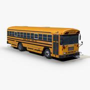 Школьный автобус Blue Bird TC2000 3d model
