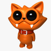 Kot kreskówka 3d model